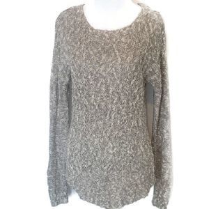 Mossimo Gray Marled Cable Knit Lightweight Sweater